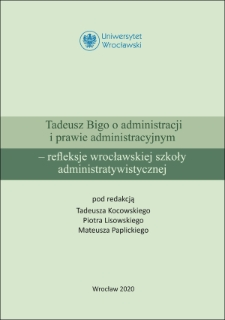 O poglądach naukowych Profesora Tadeusza Bigi