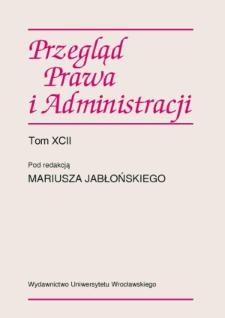 Publicyzacja prawa prywatnego — prywatyzacja prawa publicznego w kontekście rozważań nad prawem europejskim