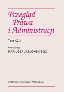 Procedura jako sposób rozwiązywania sporów i legitymizacji w procesach integracji europejskiej