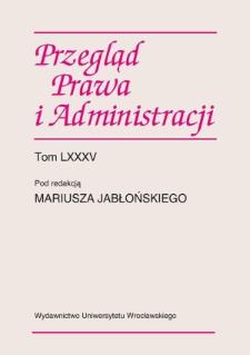 Nowe problemy badawcze w teorii publicznego prawa gospodarczego z uwzględnieniem samorządu terytorialnego, Wrocław 14–15 czerwca 2010 r.
