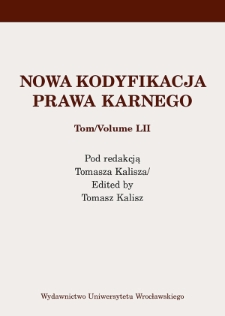 Anthropological foundations of Polish Penal Law in the light of the 1997 Constitution of the Republic of Poland