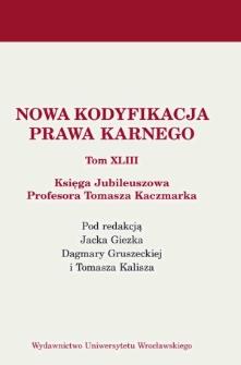 Wykaz prac naukowo–badawczych Profesora Tomasza Kaczmarka z lat 2006–2016