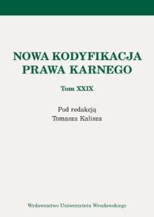 Społeczeństwo polskie jako odbiorca informacji o sprawach karnych. Wybrane problemy