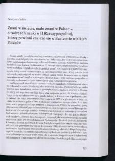 Znani w świecie, mało znani w Polsce - o twórcach nauki w II Rzeczypospolitej, którzy powinni znaleźć się w Panteonie wielkich Polaków
