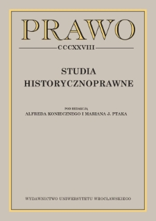 Remarks on the problems associated with the inculturation of the Napoleonic Code in the Kingdom of Poland — doubts concerning Article 530