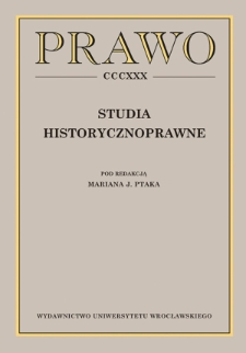 Subjects relating to the history of law at Polish law faculties