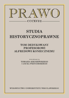 The creation of the Department of History of Administration at the University of Wrocław