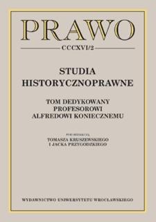 Kilka uwag o historii rzymskiego prawa handlowego