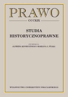 The legal status of widows in guild law until the mid-18th century in the light of legal archaeology as seen in the town of Prudnik, Upper Silesia