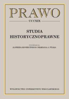 Political crimes in Polish criminal law thought of the Poniatowski era in the light of Józef Weyssenhoff's and Józef Szymanowski's proposals