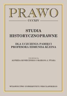 Bibliografia prac naukowych Profesora Edmunda Kleina