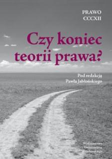 Wpływ piśmiennictwa anglojęzycznego z zakresu prawoznawstwa na zmianę paradygmatu polskiej teorii prawa
