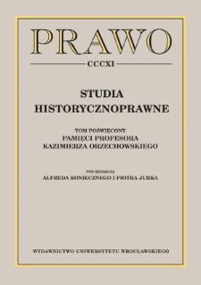 Prawo karne w pracach Profesora Kazimierza Orzechowskiego