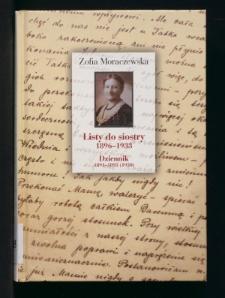 Listy do siostry 1896-1933. Dziennik 1891-1895 (1950)