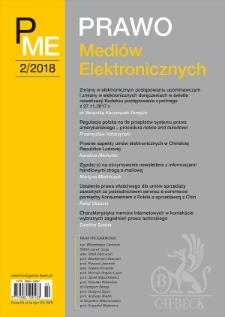 Regulacja polska na tle przepisów systemu prawa amerykańskiego – procedura notice and takedown