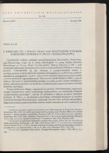 Z Niemcami czy z Rosją? Uwagi nad politycznym wyborem Narodowej Demokracji przed I wojną światową