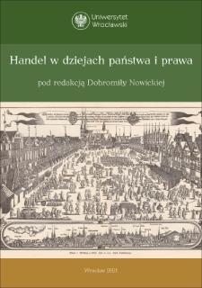 Prawna reglamentacja handlu Żydów i Szkotów w Prusach Królewskich