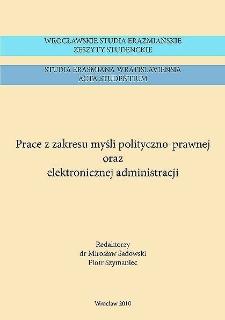 Wrocławskie Studia Erazmiańskie. Zeszyty Studenckie = Studia Erasmiana Wratislaviensia. Acta Studentium. 2010, 4 - Wstęp