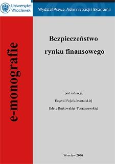 Europejski zintegrowany nadzór finansowy - aspekty instytucjonalno-prawne