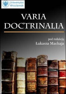 Varia doctrinalia - wprowadzenie