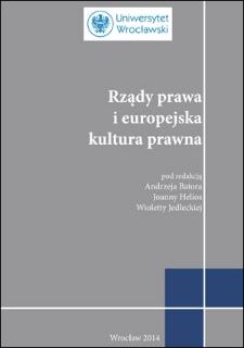 Rządy prawa jako efekt obiektywnego postępu społecznego – osolidarystycznej wizji genezy praworządności iochrony praw jednostki