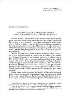 Sejmowa kuria miast w świetle relacji jaworskich deputatów z II połowy XVII wieku