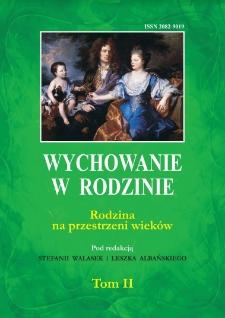 Zabawa a wychowanie dziecka w rodzinie na łamach wybranych czasopism warszawskich przełomu XIX i XX wieku