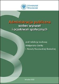 Administracja publiczna wobec wyzwań i oczekiwań społecznych : Przedmowa