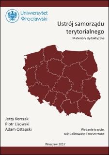 Ustrój samorządu terytorialnego : materiały dydaktyczne. Wydanie trzecie, zaktualizowane i rozszerzone