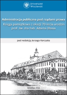 Formalism ofpublic administration operation as animperfect derivative ofrule oflaw