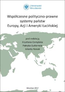Współczesne polityczno-prawne systemy państw Europy, Azji i Ameryki Łacińskiej : Spis treści ; Słowo wstępne