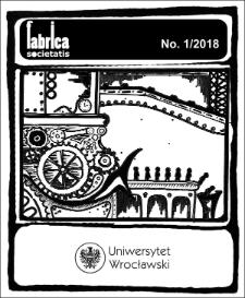 Fabrica Societatis. No. 1/2018 : Spis treści