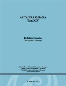 Acta Erasmiana. 2017, 14