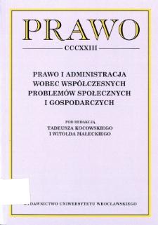 Acta Universitatis Wratislaviensis. Prawo - Słowo wstępne