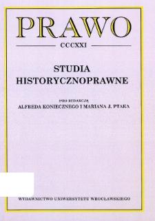 Acta Universitatis Wratislaviensis. Prawo - Strony redakcyjne i spis treści