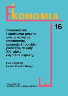 Przekroje struktury kosztów w publicznych uczelniach akademickich w Polsce