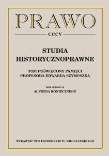 Wobec dekodyfikacji: tradycja romanistyczna i prawo kanoniczne