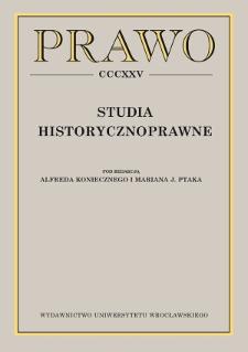 """""""Spoliatus ante omnia restituendus est. Spuilzie"""" jako szkocka metoda restytucji utraconego posiadania"""