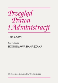 Miejsce statutu i regulaminu zakładu administracyjnego w systemie źródeł prawa : kwestie wybrane